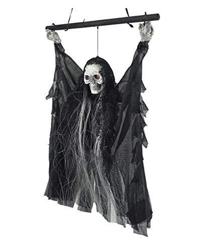 Halloween Deko Gruselig Hängedekoration Horror Halloweendeko mit Sound Dekoknochen mit Licht...