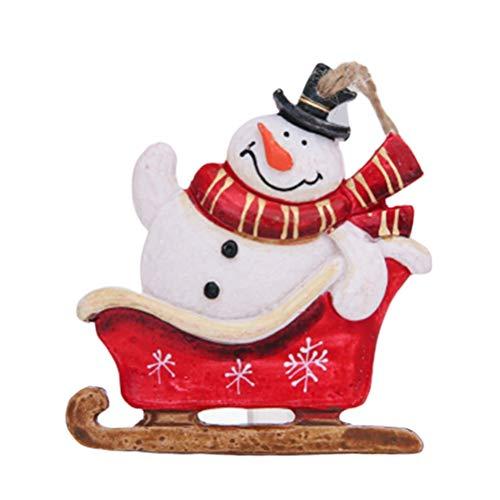 BESPORTBLE Weihnachtsschlitten Puppe Anhänger Weihnachtsbaum hängende Figur Cute Xmas Party...