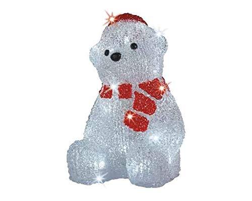 LED Beleuchtung'Eisbär mit Schal' Weihnachtsbeleuchtung außen Weihnachtsfigur Garten Beleuchtung...