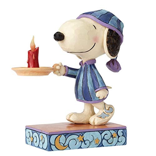 ENESCO Jim Shore Peanuts Bedtime Beagle Snoopy with Candle Figurine 4055658 New