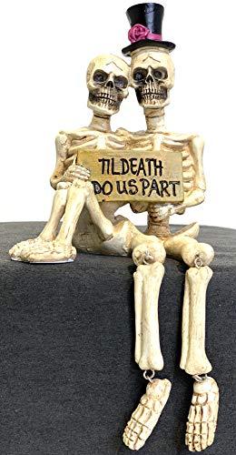 JWM Skelettpaar Halloween Regalhocker Figur Til Death Do Us Part