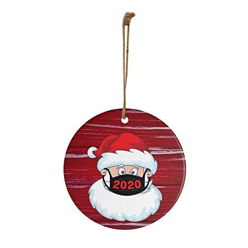 Ansenesna Weihnachten Anhänger Holz Figuren Klein Elch Schneemann Weihnachtsmann...