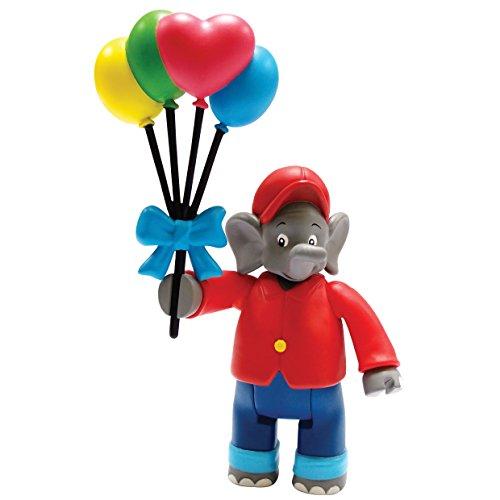 Benjamin Blümchen Figur mit Luftballons 10801, bewegliche Spielfigur ca. 9 cm groß, detailgetreue...