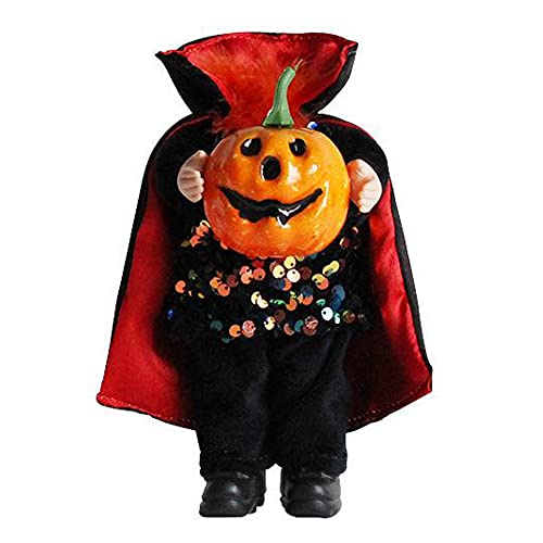 Gcroet Halloween kopflose Puppe, Halloween kopflose Kürbis-Puppe, Ghost Festival knifflige Puppe,...