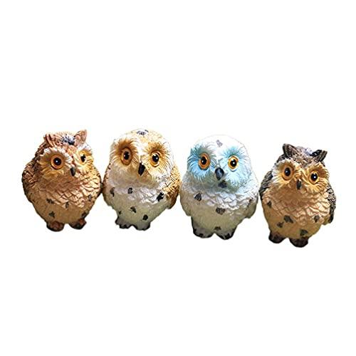 LIXBD Mini-Tierfiguren, Cartoon-Eule, Miniaturen, Kuchendekoration, Bonsai-Dekoration,...