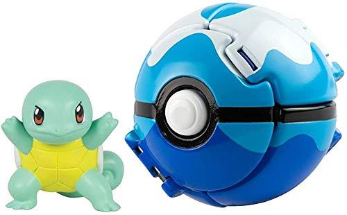 cheaakk Pokémon werfen 'n' Pop Poké Ball, Squirtle und Tauchkugel Action Figure Spielzeug für...