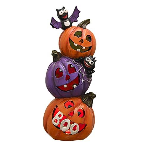 VALERY MADELYN Halloween Dekorationen, Neuheit Harz Kürbis Figuren, Halloween Party Statuen Tisch...