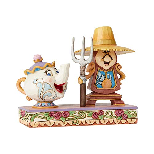 Disney Traditions Cogsworth and Mrs Potts Figurine