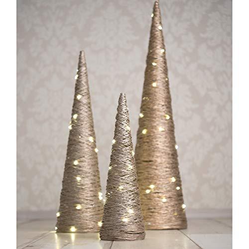 Weihnachtspyramide LED Pyramide Weihnachten 3er Set Leuchtpyramiden Weihnachtskegelbaum...