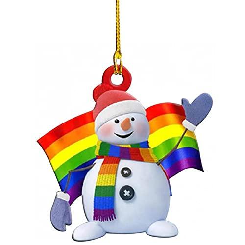 Lencyotool Weihnachten Miniatur Anhänger, Christbaumschmuck Hölzern Ornamente -...