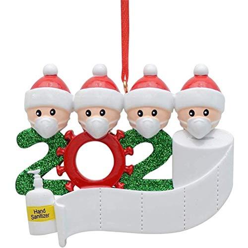 Zhongdawei Christbaumschmuck Weihnachtsanhänger - 2020 Personalisierte Familie Von Weihnachten 2020...