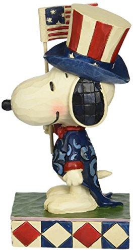 Peanuts by Jim Shore Patriotische Snoopy Figur aus Steinharz, 15,2 cm