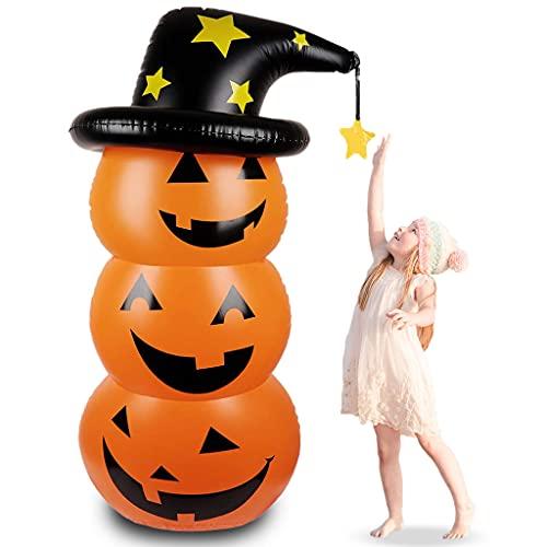 MIRTHBUY Halloween Deko Aufblasbarer Kürbis,Halloween Dekoration Grusel Set,Halloween...