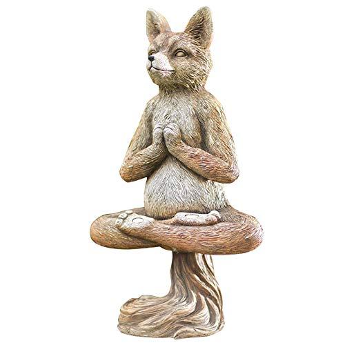 XTBL Yoga Statue Buddha Meditation Statue Gedenkstatue Zen Garden Decor Buddha Figur Sitzend...