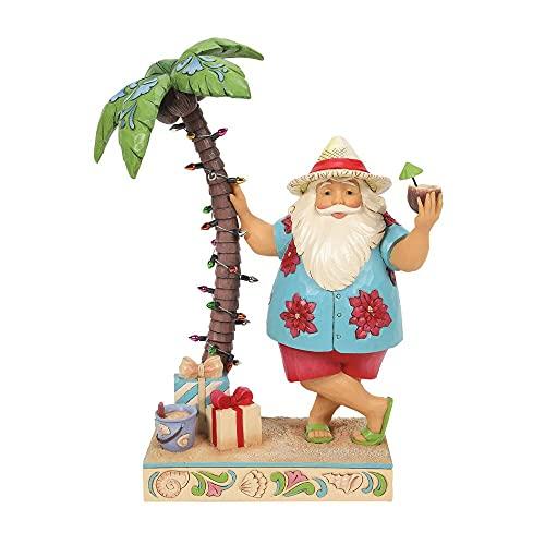 Enesco Jim Shore Heartwood Creek Weihnachtsmann von Palme Figur