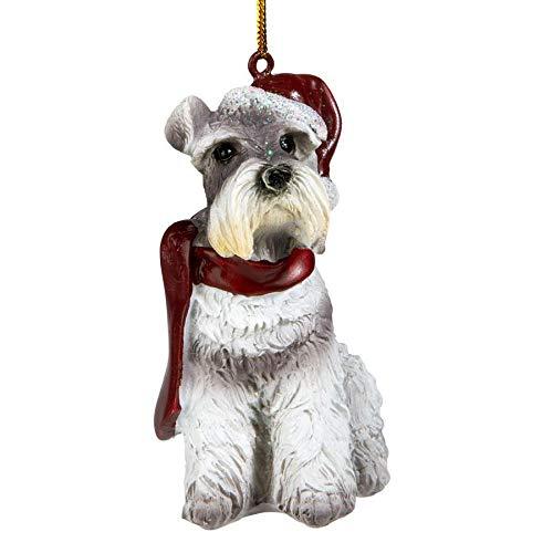 Design Toscano Christmas Ornaments, Weihnachtszwergschnauzer Ferienhundeornamente