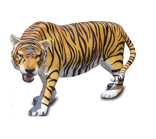 XXL Tiger LEBENSGROSS~LÖWE Deluxe Gartendeko ca.220cm Gartendekoration DEKO NEU inkl. Lieferung