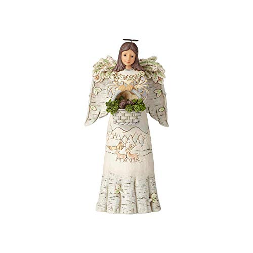 Heartwood Creek Woodland Angel Holding Basket Figurine