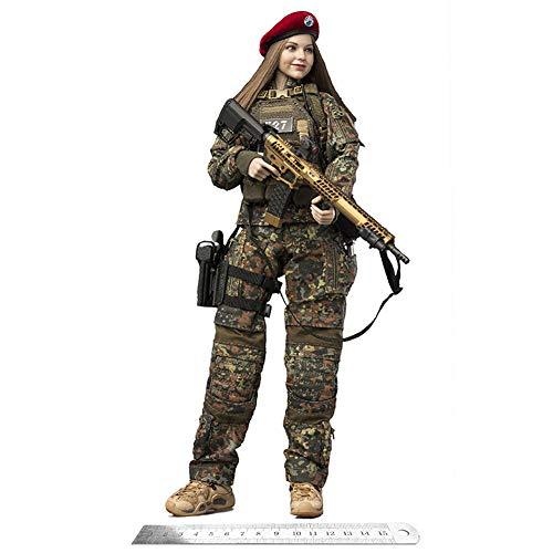 Delili 1/6 Deban Camouflage Weiblicher Soldat Action Figur Kerr Bewegliche Puppe Modell Sammler...