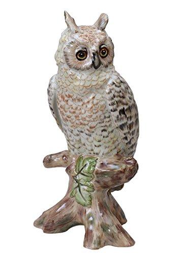 aubaho Porzellan SKULPTUR UHU Eule Tierwelt Figur 23cm ANTIK Stil