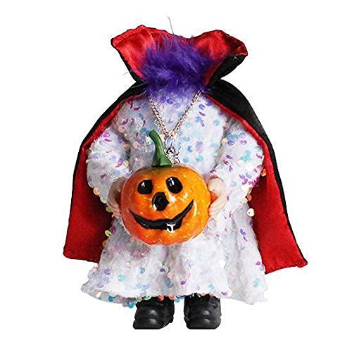 Halloween Kürbis Puppe Dekor Desktop Headless Ghost Festival Tricky Gnomes Requisiten, Neuheit Harz...