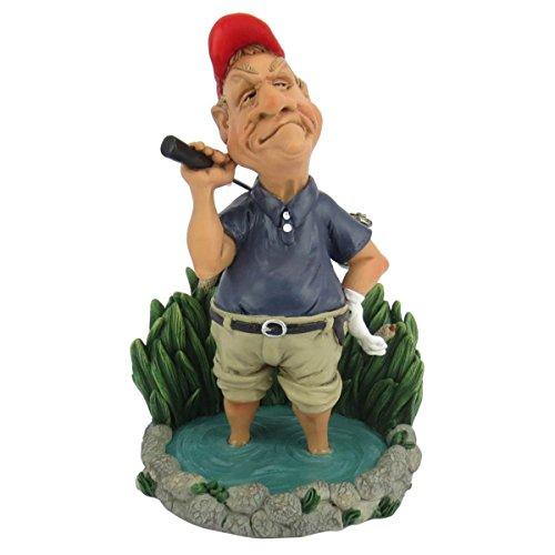 Funny Sports - Golfspieler steht im Wasser, Hindernis