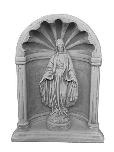 gartendekoparadies.de Wunderschöne Kapelle mit Madonna heilige Maria aus Steinguss, frostfest