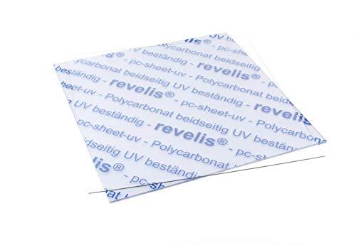revelis® Polycarbonatplatte transparent in verschiedenen Größen und Stärken zur Auswahl...