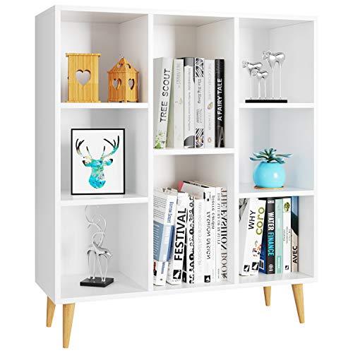 Homfa Bücherregal, Regal mit 8 Fächer, Standregal Schrank Raumteiler Kinderregal 80x29.5x93cm...