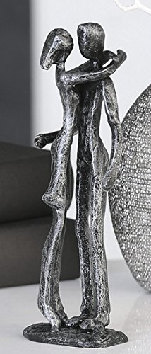 Casablanca 74603 Design Skulptur Couple - Liebespaar - Gußeisen - brüniert - Farbe: Antik-Silber...