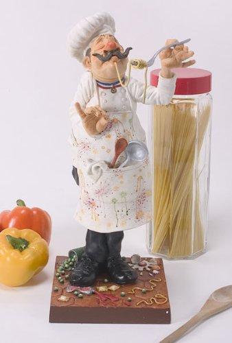 Unbekannt Guillermo Forchino fo85500Figur der Koch, Kunstharz, Mehrfarbig, 35x 15x 41cm