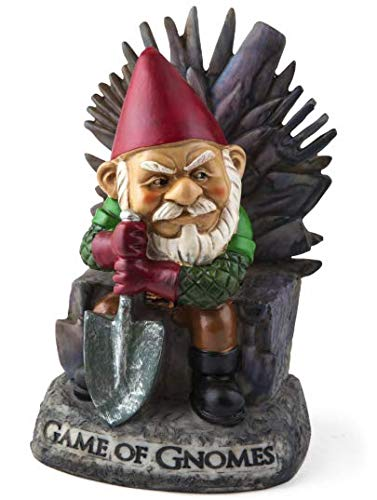 Big Mouth Inc. Gartenzwerg Game of Gnomes - Lustiger Gartenzwerg, handbemalt, wetterfest, Keramik,...