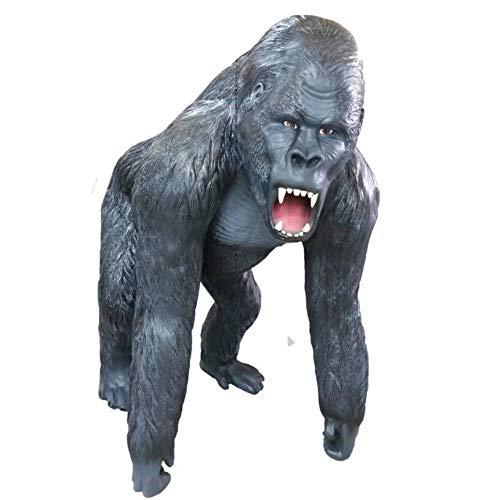 XXL Premium Gorilla LEBENSGROSS BRÜLLT AFFE Gartendeko 130cm~Garten DEKO Figur Wow inkl. Spedition