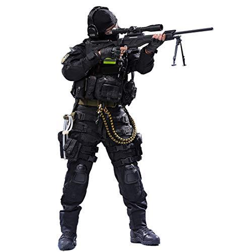 HYZM Soldat Action Figuren 1/6, 30CM Actionfigur Modell Beweglich Kampf gegen Special Forces Soldier...