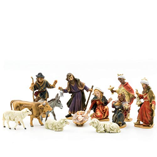 MAROLIN Krippenfiguren Set mit 12 Figuren, zu 12cm Fig. (Kunststoff)