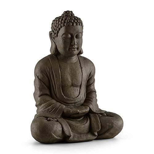 Blumfeldt Siddhartha - Skulptur, Gartenskulptur, Deko-Figur, Buddha-Statue, sitzend, für drinnen...