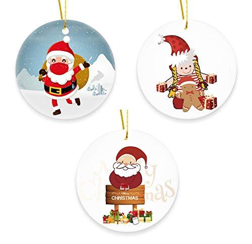 EOZY 3er Set Anhänger Weihnachtsmann Weihnachten Schmuckanhänger Christbaum Schmuck DIY Dekoration...