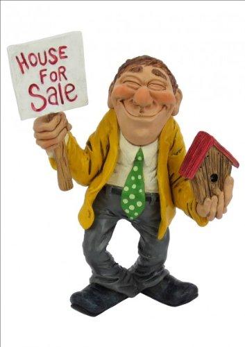 Funny Job Immobilienmarkler Les Alpes Figur Beruf Haus Wohnen