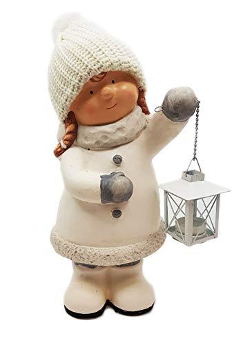 Wichtelstube-Kollektion XXL Deko Figur 40cm Winterkinder Mädchen Weihnachtsfigur Keramikfigur...