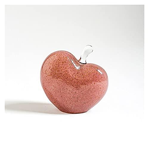 Design Deko Figur Dekoration Unique Crystal Love Apfel Ornament, Kunst Glas Apfel Sammeln von...
