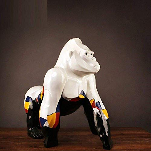 Mnjin Skulpturen, 60 cm Moderne große Kunst Graffiti AFFE King Kong Harz Gorilla Skulptur für...