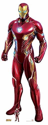 Star Einbauöffnungen SC1145Offizielles Marvel Charakter aus Karton, Lebensgröße Ironman...