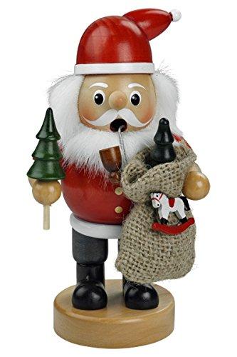 Räuchermännchen Räuchermann Räucherfigur Rauchfigur 'Weihnachtsmann' ca. 16 cm hoch, aus Holz,...