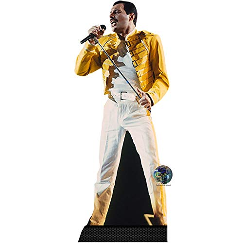 Celebrity Cutouts Freddie Mercury (Yellow Jacket) Pappaufsteller lebensgross