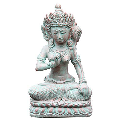 Ciffre Shiva Figur ca. 40cm Antik Look Massiv Steinfigur Skulptur Feng Shui Garten Deko Wetterfest...