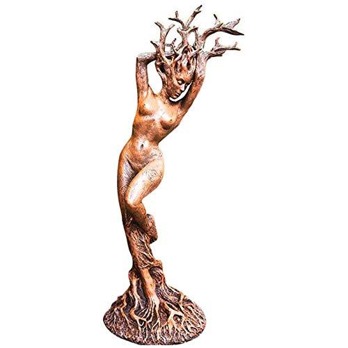 LOVOICE Garten Waldgöttin Statue Gartenfigur, Gott Oder Göttin Der Baumstatue Harz Figur...