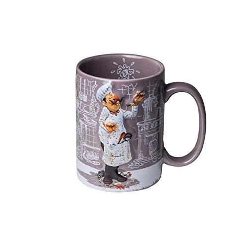 Unbekannt Guillermo Forchino Fo83001 Gabel Tasse der Koch, Keramik, Mehrfarbig, 8 x 8 x 12 cm