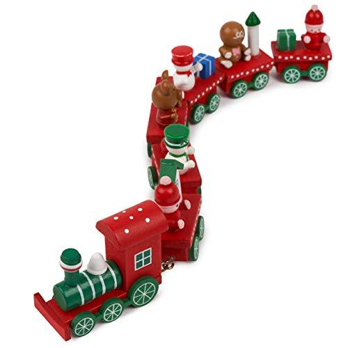 Mini Weihnachten Design Spielzeug Zug aus Holz - Das perfekte Weihnachtsgeschenk, mit Mini Santa...