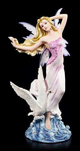 Elfen Figur - Cignie mit Schwan - Elfen Feen Fantasy Deko