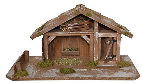 Krippe Holzkrippe Weihnachtskrippe Weihnachten Krippenstall Weihnachten Dekoration
